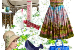 Vintage Look Dresses – Floral print dress in retro style