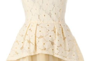 Floral Dress – Design Wonderful Elegant Beige Big Hem