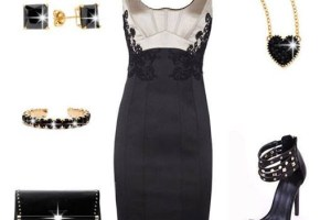 Little Black Party Dress with Stiletto Sandals