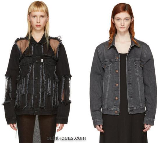 Off-White Black Denim Over Jacket and 6397 Black Jean Jacket