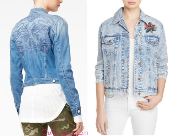 William Rast Sussex Embroidered Denim Jacket and Honey Punch Embroidered Denim Jacket