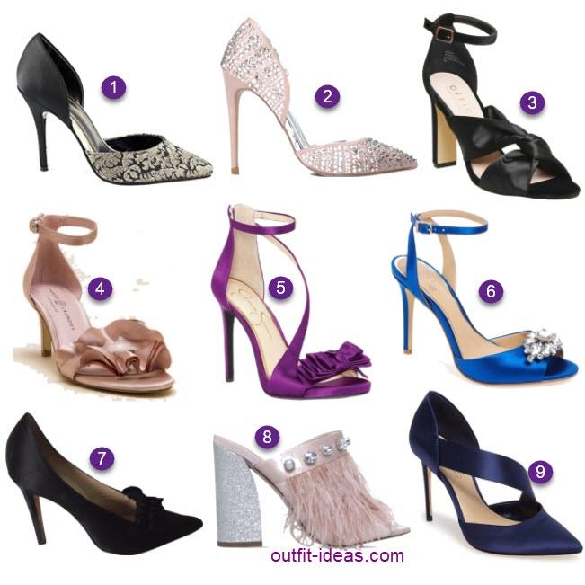 satin heels under 100 dollars