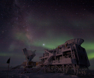 South Pole Telescope at Night