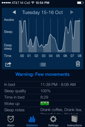 Image courtesy of Sleep Cycle app
