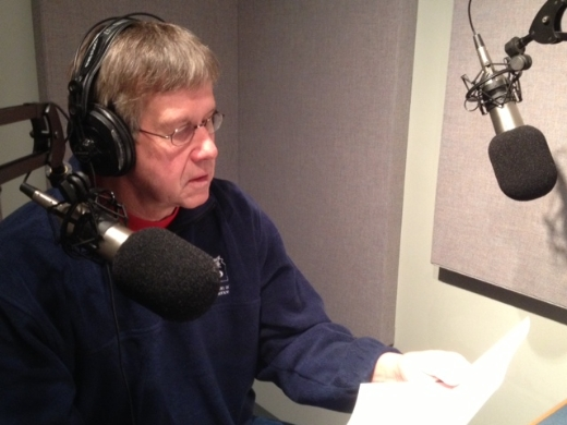 Buchanan is a regular guest with Kansas Public Radio, where he talks about water, earthquakes, and science. [Credit: Kansas Public Radio]