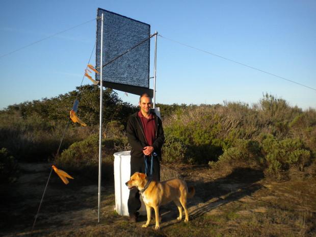 Dan Fernandez and his dog, Maddie. Photo: Bonnie Fernandez