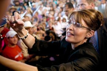 Sarah Palin was shown in a video with a Kenyan bishop.