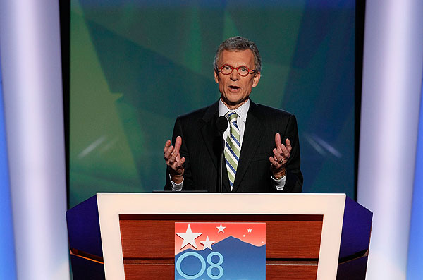 Daschle appearing here at DNC - is looking forward to his job in the Obama administration.