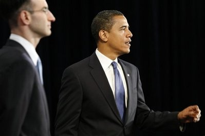 President-elect Barack Obama, right, with Budget Director-designate Peter Orszag, left, during a news conference in Chicago, Tuesday, Nov. 25, 2008