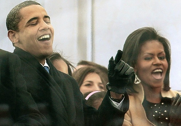 Mr & Mrs Obama get down to the music during Bruce Springsteen's rendition of The Rising