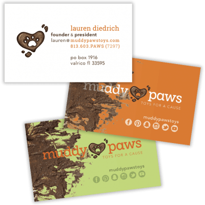 Muddy Paws business cards