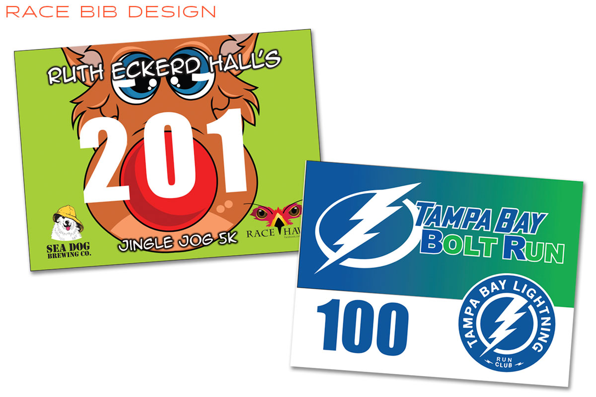 Ruth Eckerd Hall Graphic Design Race Bib