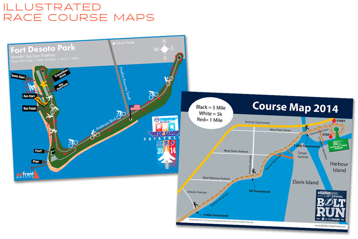 Illustration & Graphic Design Race Course Maps