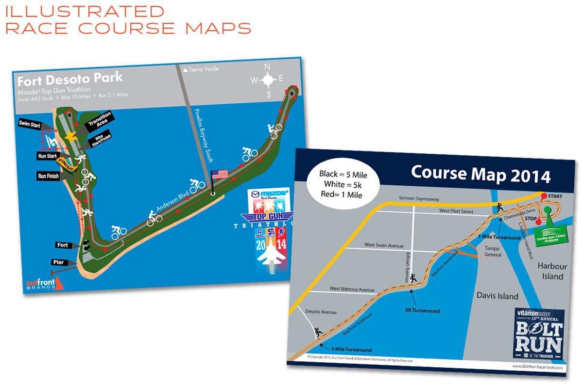 Illustration & Graphic Design Race Course Maps