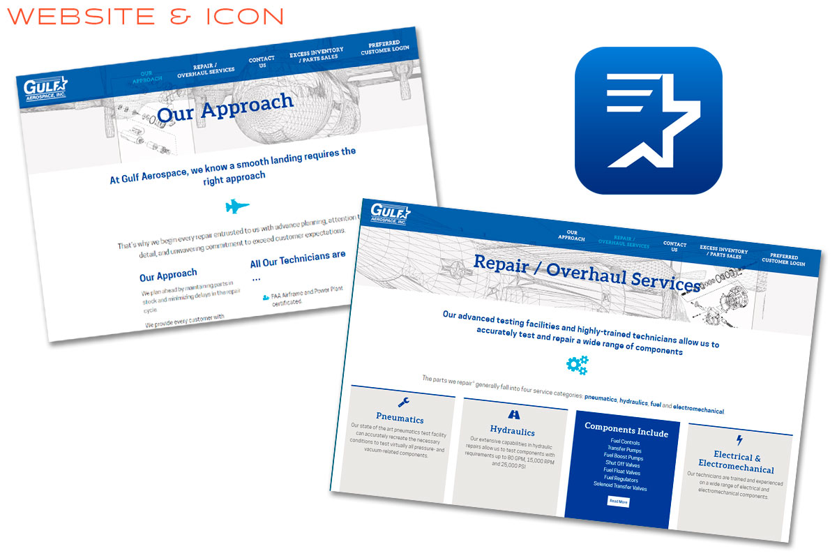 Gulf Aerospace Branding and Website Design
