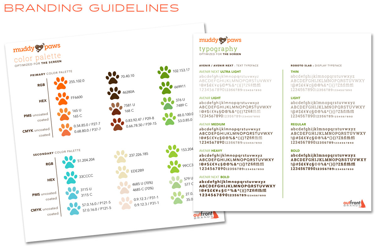 Muddy Paws Toys Branding Guidelines - Style Guide