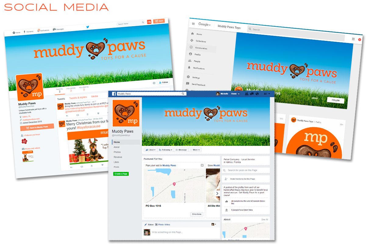 Muddy Paws Social Media Marketing - Facebook, Google, Twitter