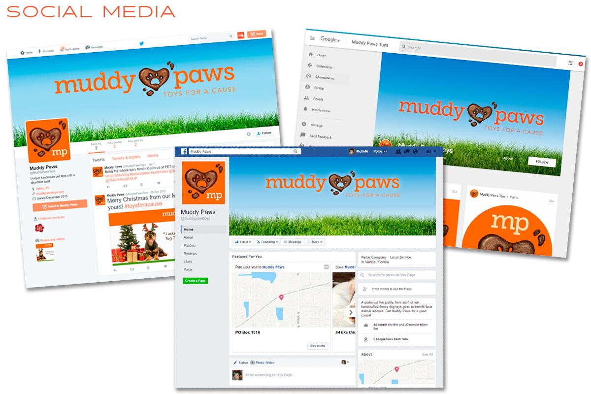 Muddy Paws Social Media Marketing - Facebook, Google, Twitter