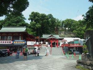 【神社巡り】熊本城稲荷神社で水みくじ、御朱印をいただきました