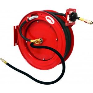 Enrouleur automatique métallique de tuyau d'air caoutchouc 20m