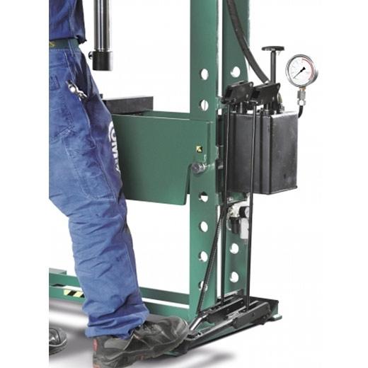 Presse hydraulique d'atelier manuelle Compac HP25 commande à pédale