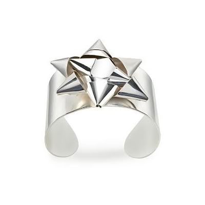 Margiela silver gift bow cuff 3
