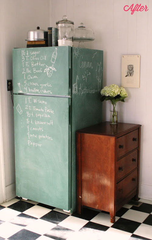 DIY-chalk-paint-fridge