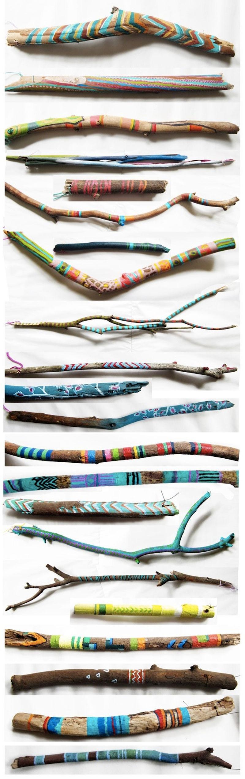 Refried-hippie-DIY-painted-sticks