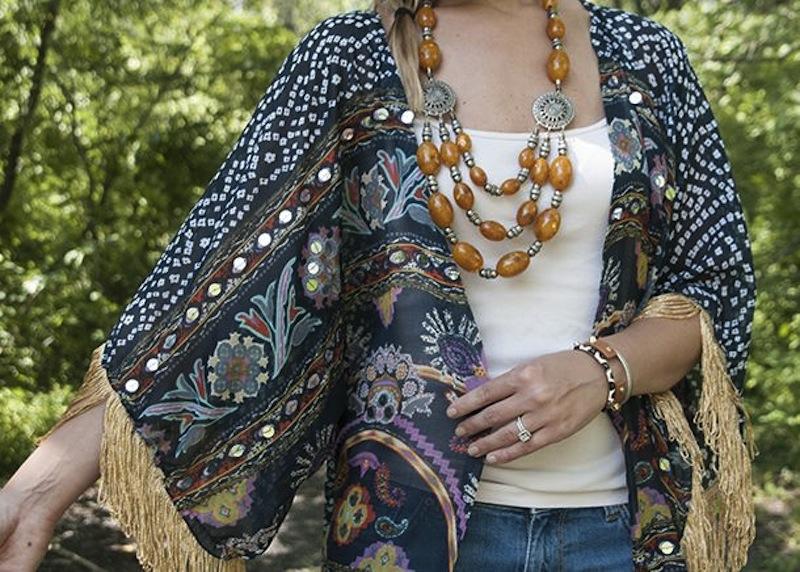 DIY fringe scarf kimono jacket House of Earnest 3