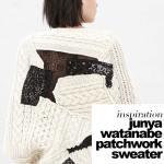 junya watanabe patchwork knit