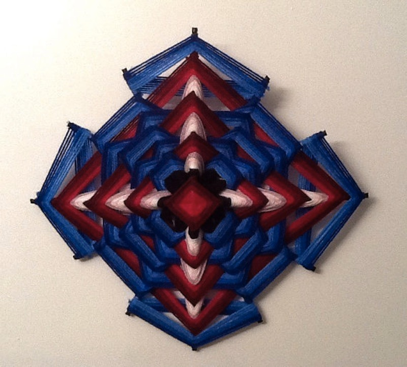 The Ojo de Dios Gods Eye weawing crafts 7