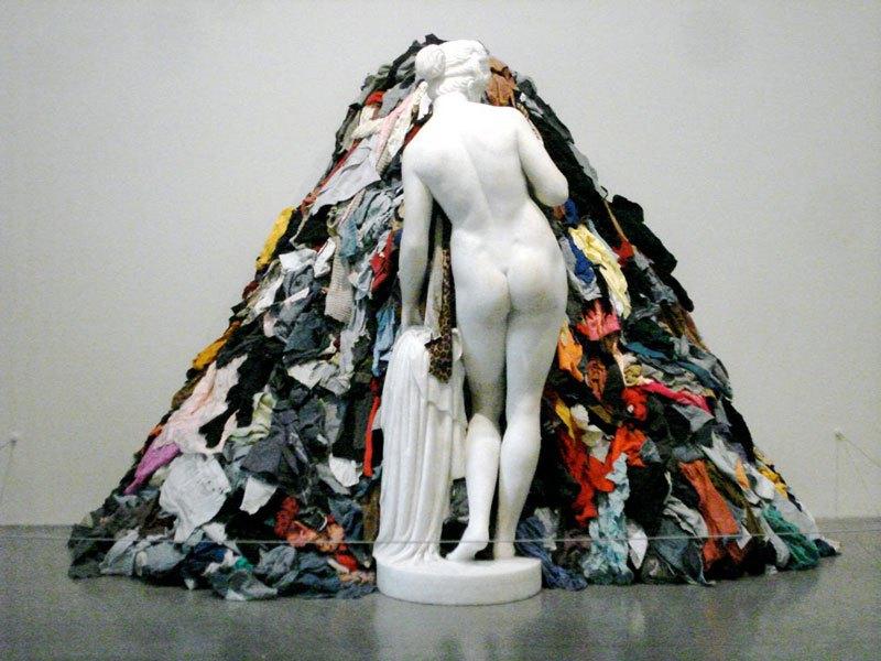 tate museum clothes pile