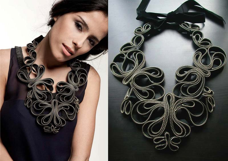 Reborne-Jewelry-Madame-Butterfly-zipper-necklace-2012-2