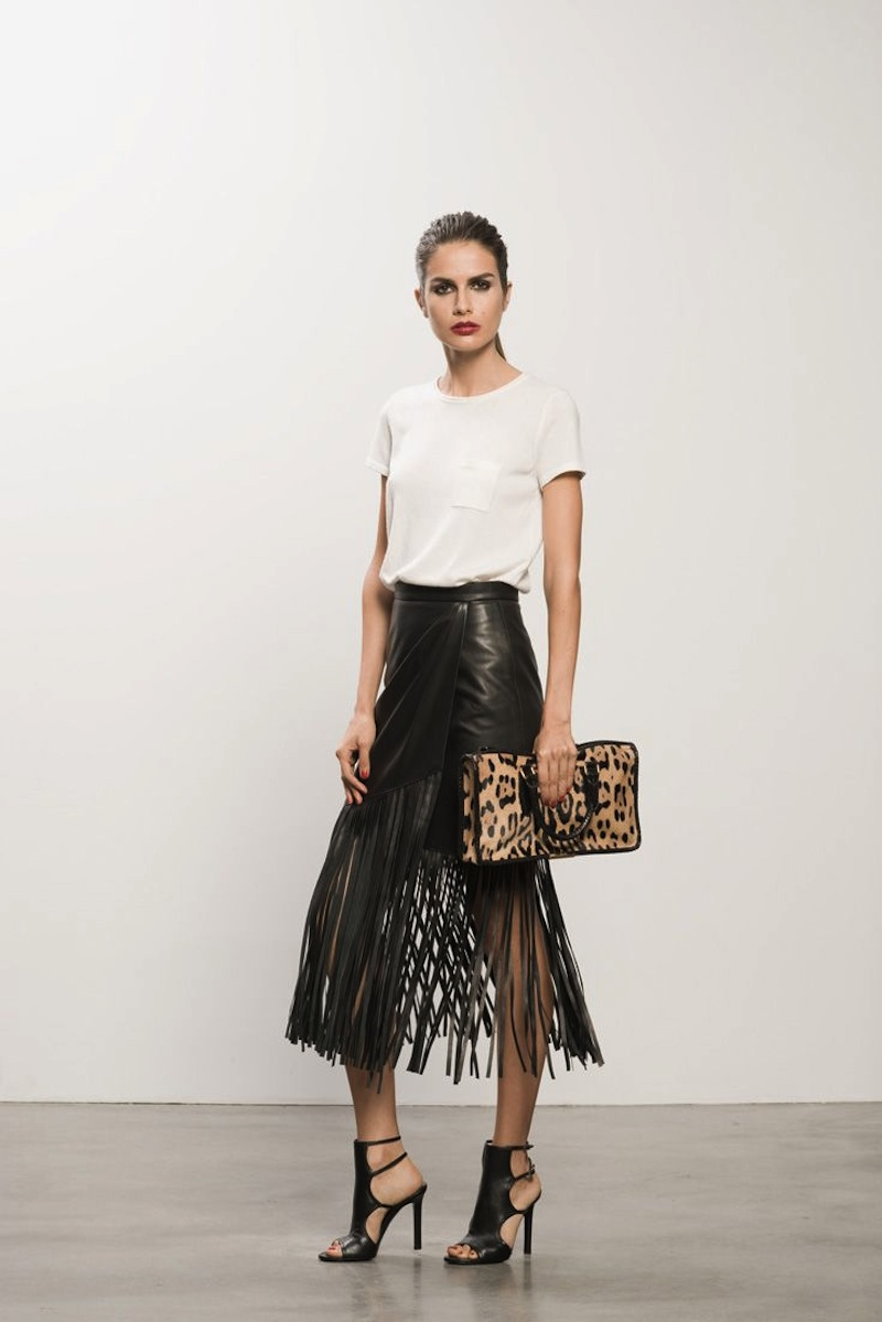 fringe leather skirt tamara mellon 6
