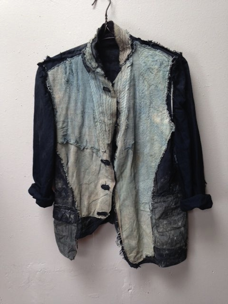 boro stitched denim jacket
