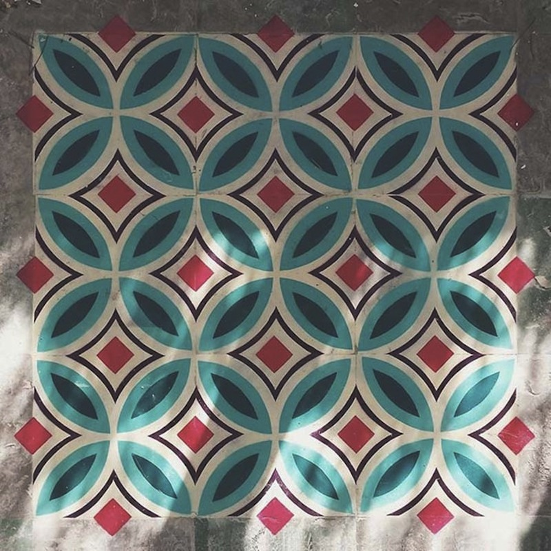 spray painted moroccon tiles 2
