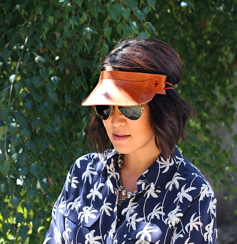 honestlyWTF diy leather sun visor
