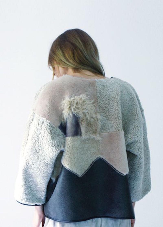 Milena Silvano fur shearing coat jacket 3