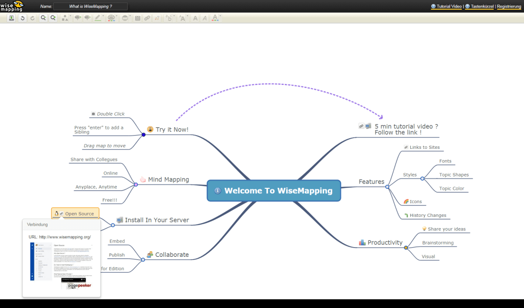 Screenshot Wise Mapping