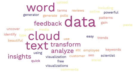 Screenshot Free Word Cloud Generator