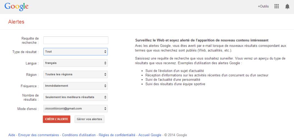 Google Alertes Veille