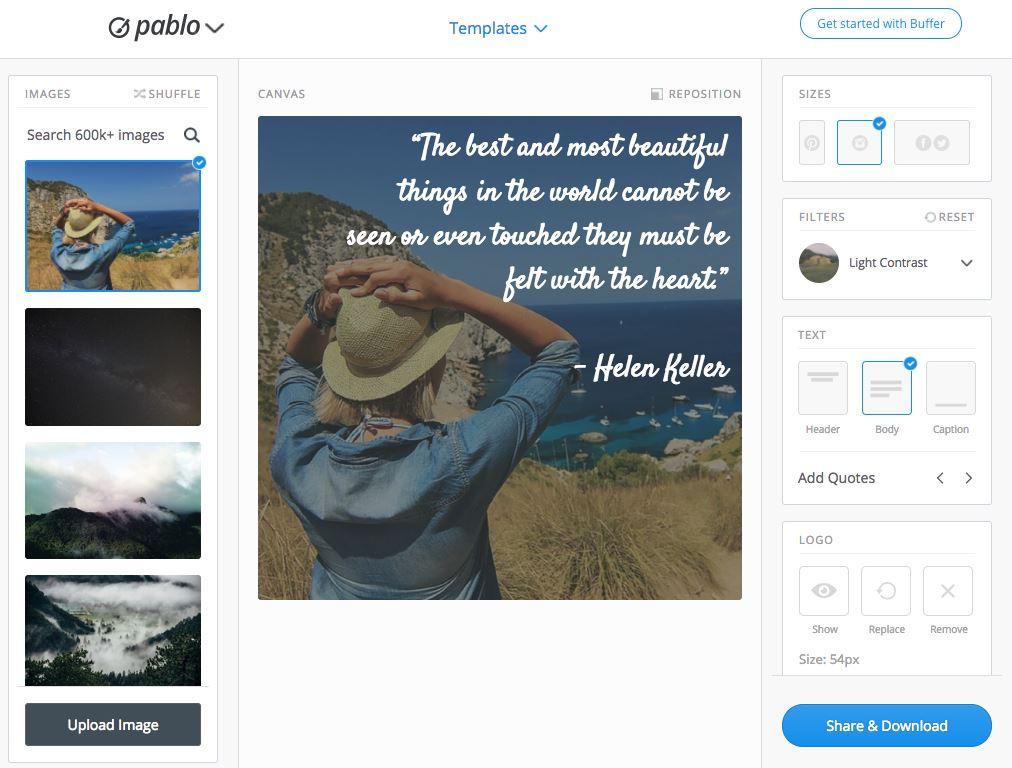 Pablo Buffer Visuels gratuits articles posts