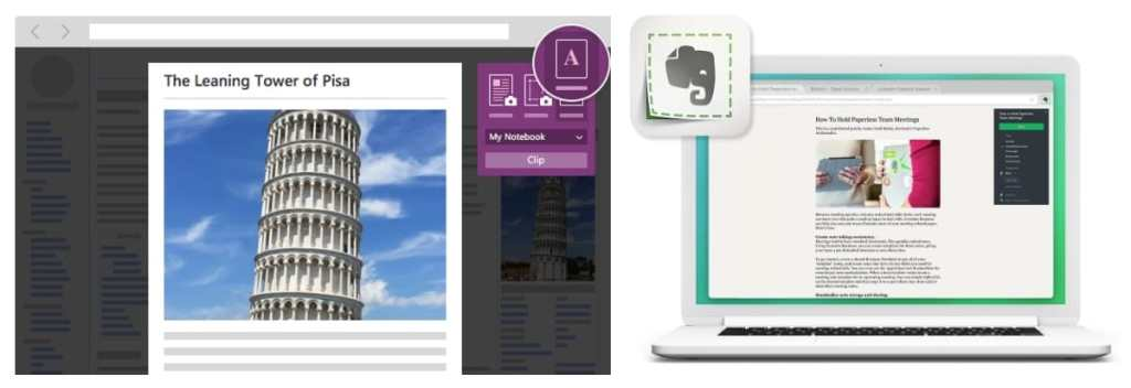 onenote evernote web clipper