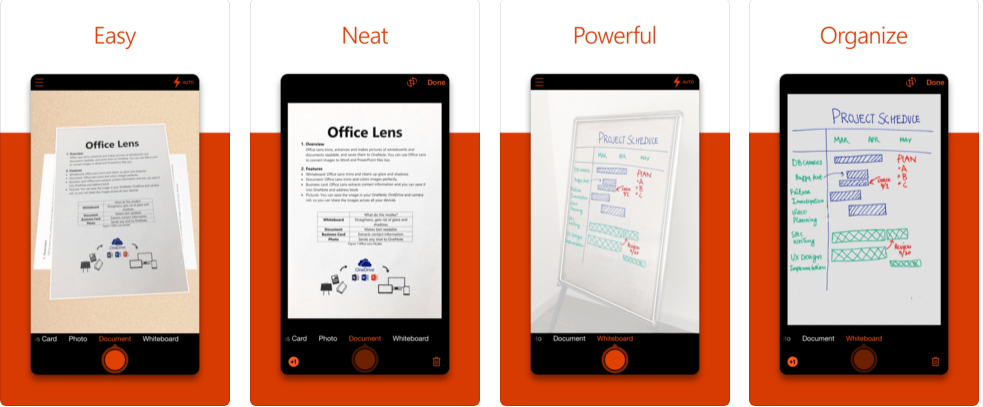 OneNote Office Lens