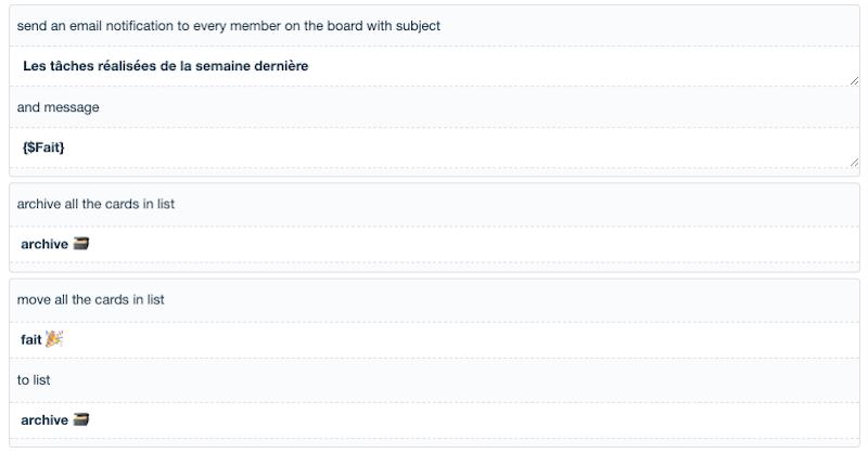 Butler liste tâches faites archive