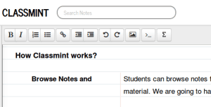 Note classmint