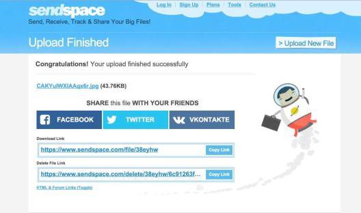 Sendpace2