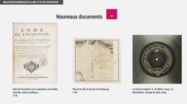 Nouveaux documents gallica