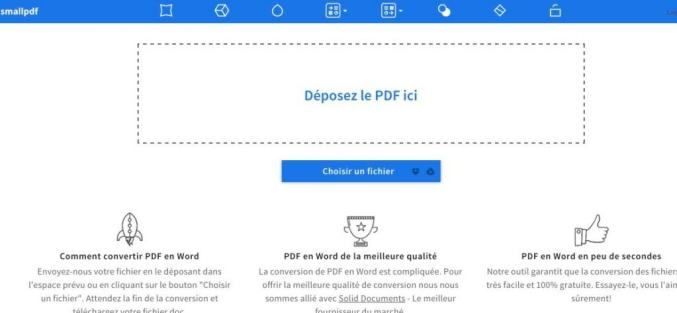 Smallpdf convertir un fichier pdf en word - Convertir fichier pdf en open office ...