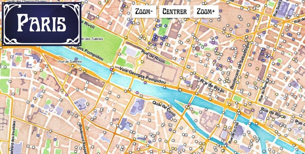 Plan des rues de Paris